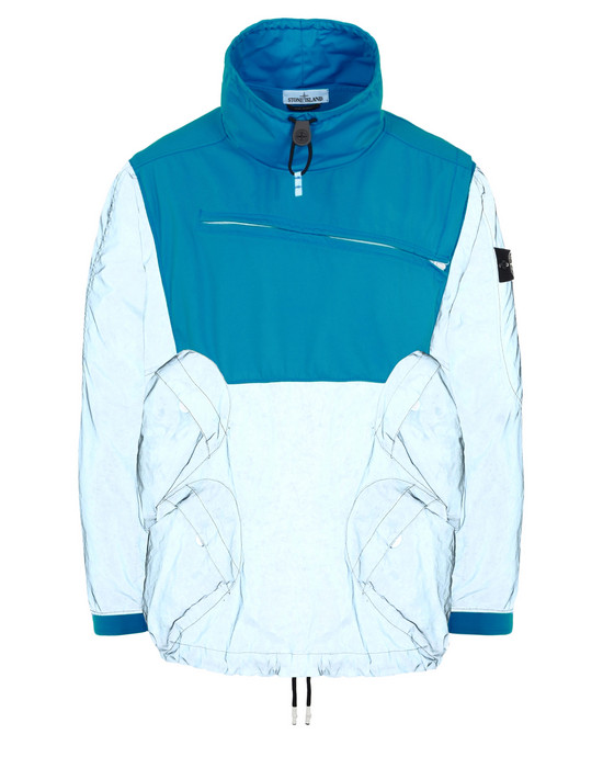 LIGHTWEIGHT JACKET 44999 GARMENT DYED PLATED REFLECTIVE WITH NY JERSEY-R  STONE ISLAND - 0