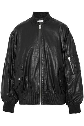 IRO Leather bomber jacket