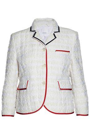 THOM BROWNE Frayed cloqué blazer