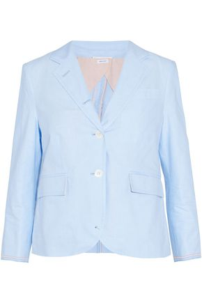 THOM BROWNE Striped cotton-canvas blazer