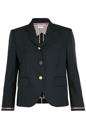 THOM BROWNE Striped wool-canvas blazer