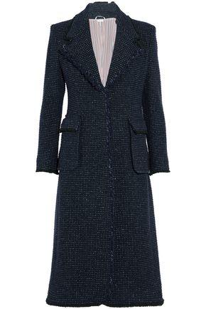 THOM BROWNE Frayed wool-blend bouclé-tweed coat