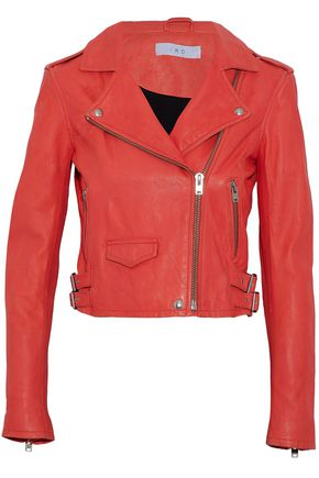 IRO Washed leather biker jacket