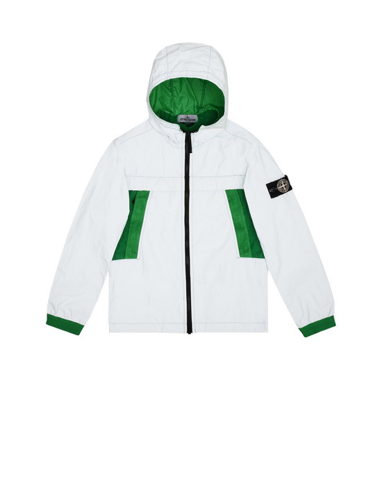 Jacke 41138 GARMENT DYED PLATED REFLECTIVE  STONE ISLAND JUNIOR - 0