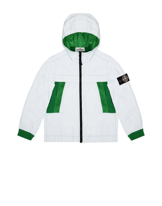 캐주얼 재킷 41138 GARMENT DYED PLATED REFLECTIVE  STONE ISLAND JUNIOR - 0