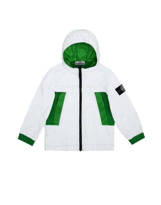 Jacket 41138 GARMENT DYED PLATED REFLECTIVE  STONE ISLAND JUNIOR - 0