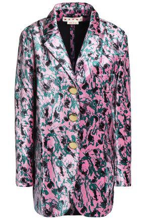 MARNI Printed velvet blazer