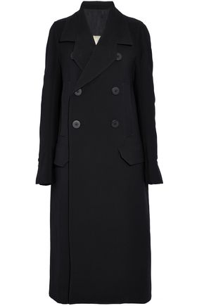 RICK OWENS Double-breasted wool-crepe coat