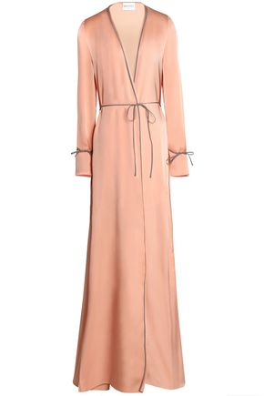 VIONNET Silk-satin wrap maxi dress