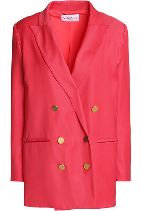 VIONNET Double-breasted wool-blend blazer