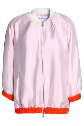 VIONNET Silk-satin bomber jacket