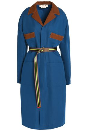 MARNI Cotton and linen-blend gabardine coat