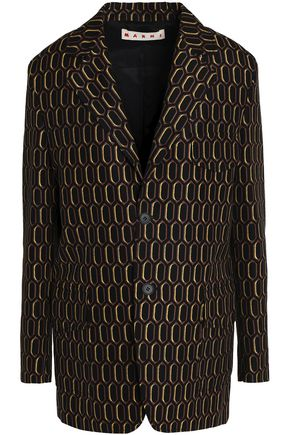 MARNI Cotton-jacquard blazer