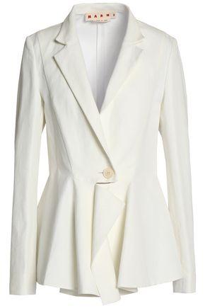 MARNI Cotton and linen-blend gabardine blazer