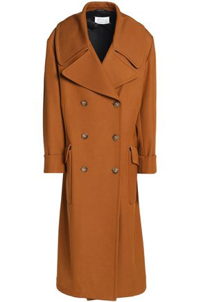 MAISON MARGIELA Double-breasted wool and cotton-blend gabardine coat