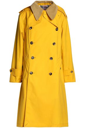 MAISON MARGIELA Convertible corduroy-trimmed coated-cotton trench coat