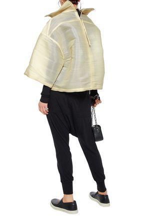 RICK OWENS Coated woven calf hair-blend jacket