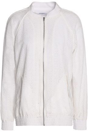 EQUIPMENT Embroidered silk-crepe de chine jacket
