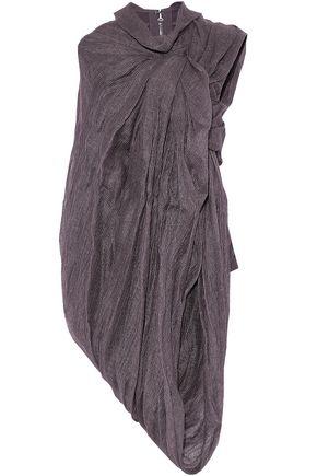 RICK OWENS Draped cotton-blend gauze top