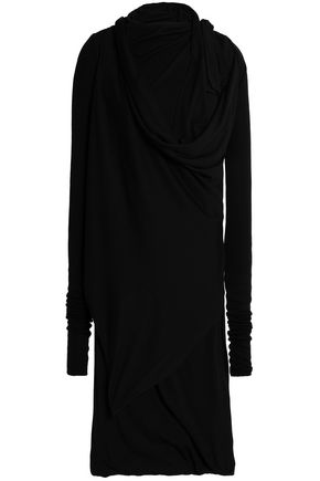 RICK OWENS LILIES Asymmetric draped stretch-jersey top