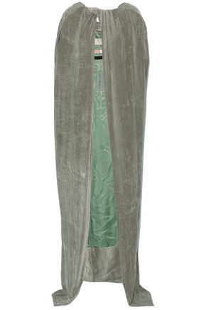 RICK OWENS Twist-front velvet cape