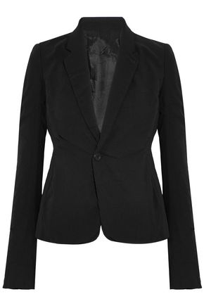 Ruched Silk Crepe Blazer by Rick Owens