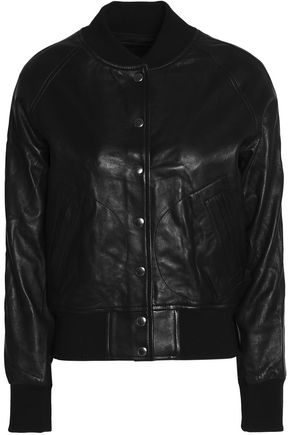 R13 Leather bomber jacket