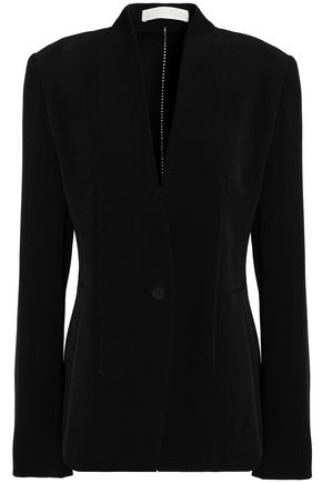 DION LEE Lattice-trimmed crepe blazer