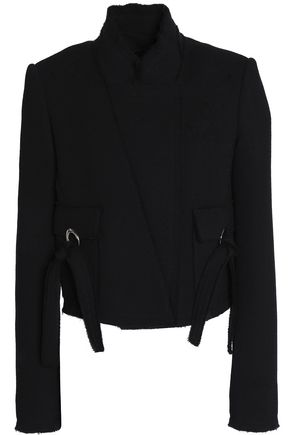 PROENZA SCHOULER Double-breasted wool-crepe jacket
