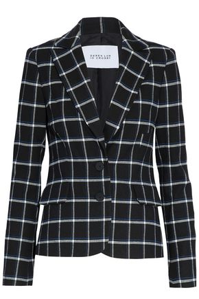 DEREK LAM 10 CROSBY Checked brushed-twill blazer