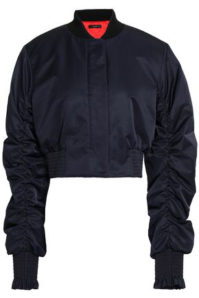 ELLERY Ruched shell bomber jacket