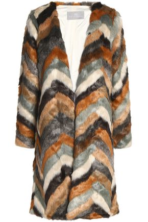 TART COLLECTIONS Janis striped faux fur coat