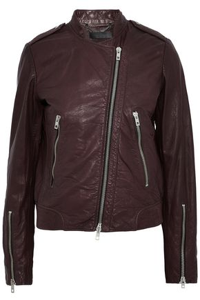 RAG & BONE Lyon crinkled-leather biker jacket