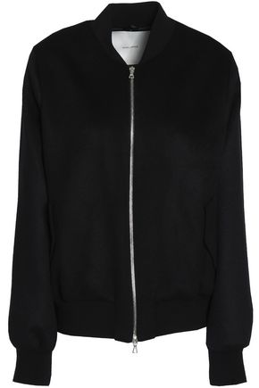 ADAM LIPPES Cashmere and wool-blend bomber jacket