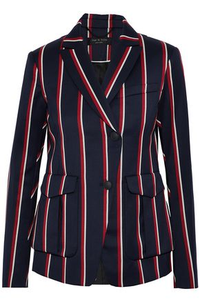 RAG & BONE Striped wool and cotton-blend blazer