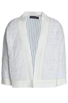 ANTIK BATIK Embroidered cotton-gauze jacket