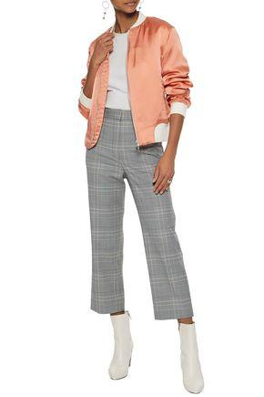 RAG & BONE Ribbed knit-trimmed satin bomber jacket