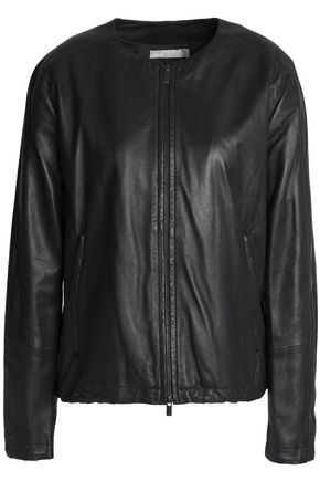 VINCE. Leather biker jacket