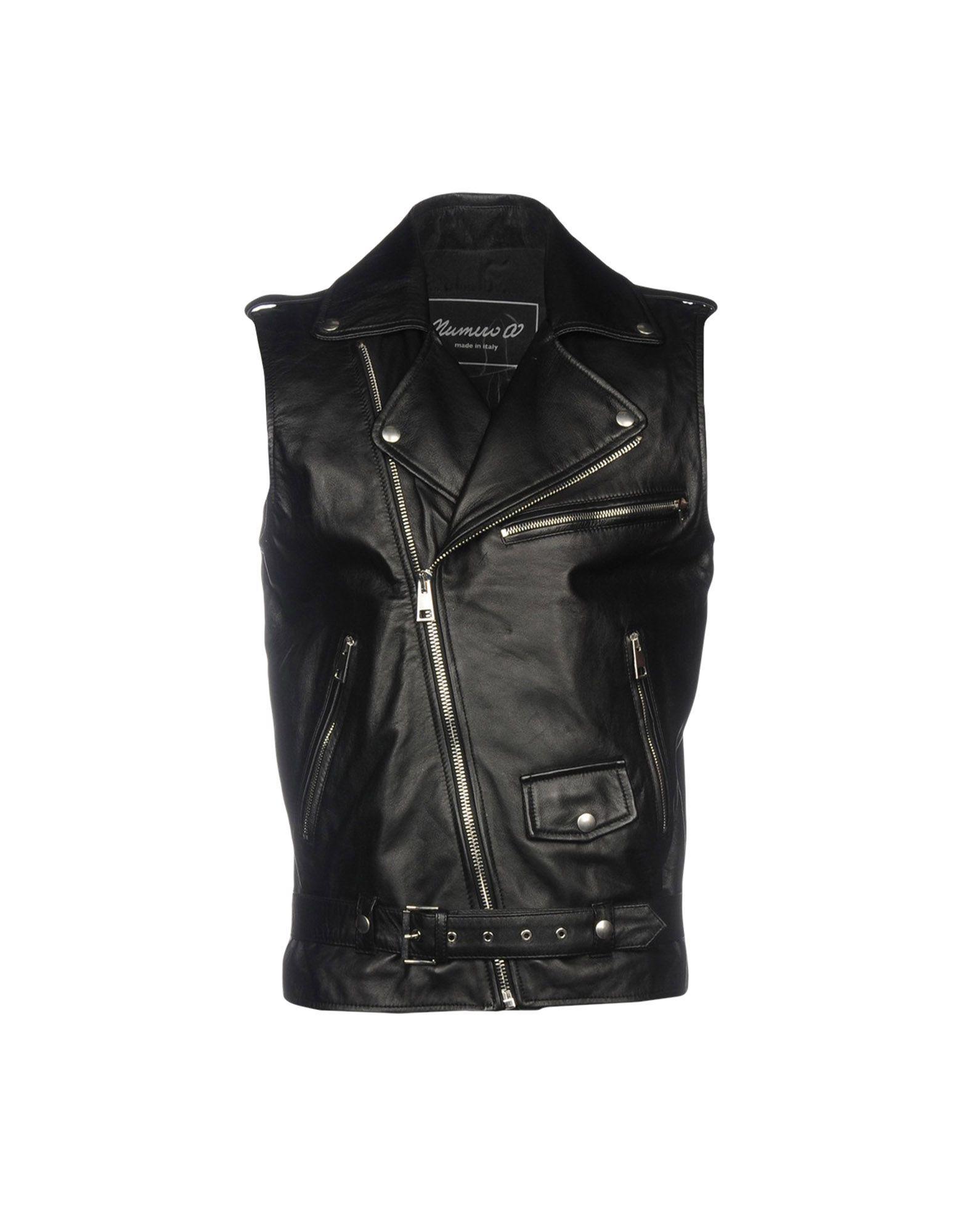 NUMERO 00 Biker Jacket in Black