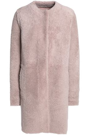 DROMe Reversible shearling suede coat