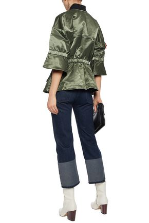 MARISSA WEBB Cotton-blend satin bomber jacket