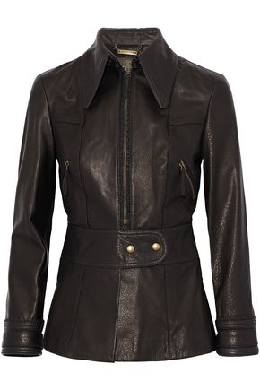 ROBERTO CAVALLI Brushed-leather jacket