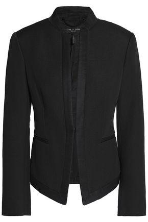 RAG & BONE Waverly grosgrain-trimmed cotton-blend piqué jacket