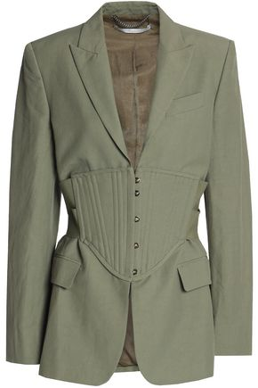 STELLA McCARTNEY Woven corset jacket