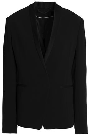 RAG & BONE Satin-trimmed crepe blazer