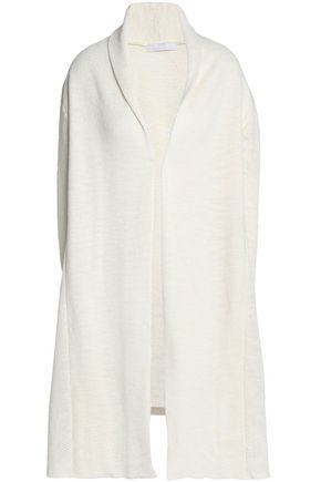 KAIN Draped brushed mélange knitted cardigan