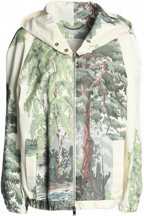 STELLA McCARTNEY Printed gabardine hooded jacket