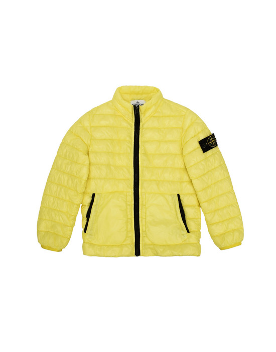 Mid-length jacket  40332 GARMENT DYED MICRO YARN DOWN PROOF   STONE ISLAND JUNIOR - 0