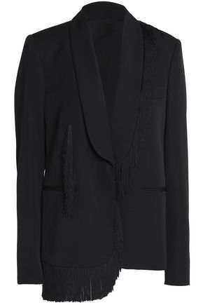 STELLA McCARTNEY Fringe-trimmed wool blazer