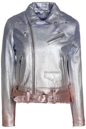 IRO Metallic dégradé leather biker jacket